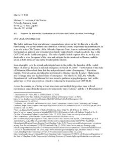 Letter sent to Chief Justice Mike Heavican